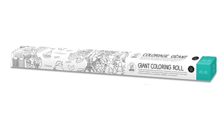 Atlas Colouring Roll