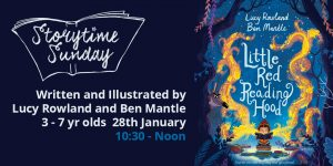 Storytime Sunday- Lucy Rowland and Ben Mantle featuring 'Little Red Reading Hood' @ The Bright Emporium | England | United Kingdom